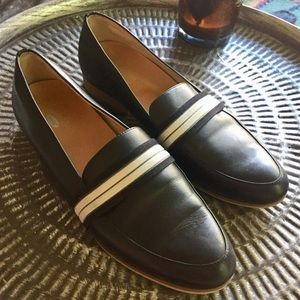 Dr scholls Black Leather Flats Comfort Shoes Sz 11